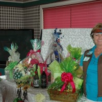 Diane Balch Presenting Gift Baskets at 2013 Ladies Golf Invitational