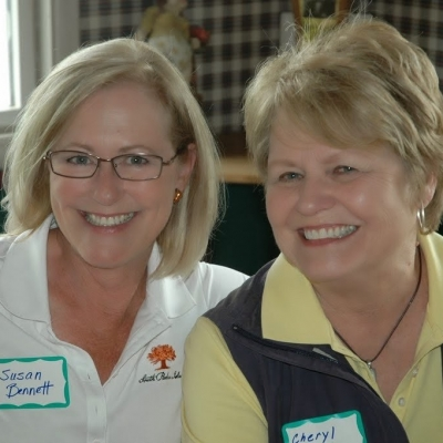 Susan Bennett and Cheryl at 2013 Ladies Golf Invitational